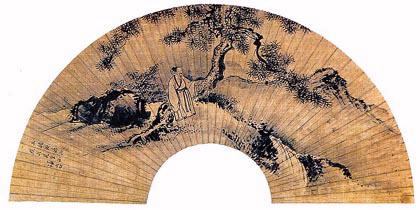 무송관폭. 정선 그림. 75.8cm. 지본수묵. 두산세계대백과사전 사진