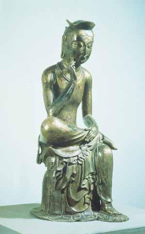 금동미륵보살반가상, 높이 93.5cm, 삼국 시대, 국립중앙박물관 소장, 국보 제83호