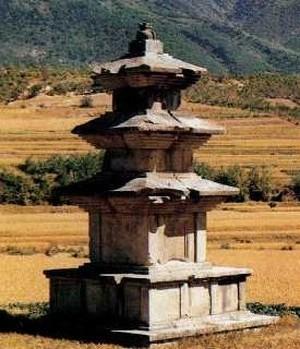 고선사지삼층석탑. 국보 제38호. 통일신라. 한메디지탈세계대백과 사진