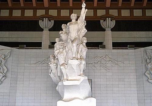 독립기념관 조각상. 충남 천안시 목천면. 두산세계대백과사전 사진