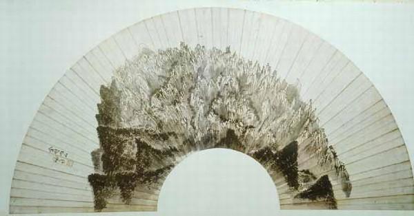 금강내산. 정선(조선 후기, 1676-1759) 그림. 80.5cmx28.2cm. 종이에 먹. 간송미술관 소장. 한국민족문화대백과사전 사진