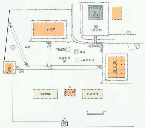 금산사 배치도. 한국민족문화대백과사전 사진