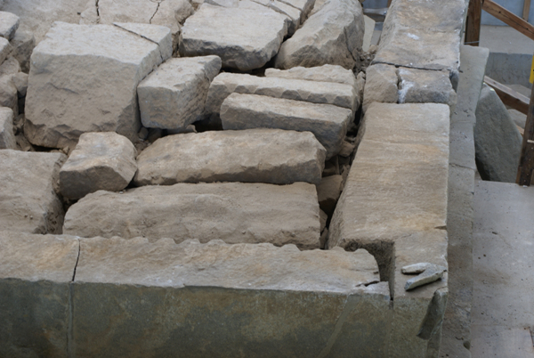 1층 탑신 북쪽 부재들 1