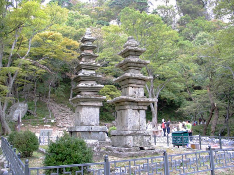 계룡산 남매탑, 청량사지 5층석탑과 7층석탑, 보물 1284, 1285호