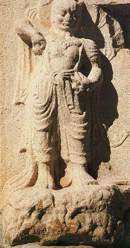 분황사석탑 인왕상. 문화재청 사진