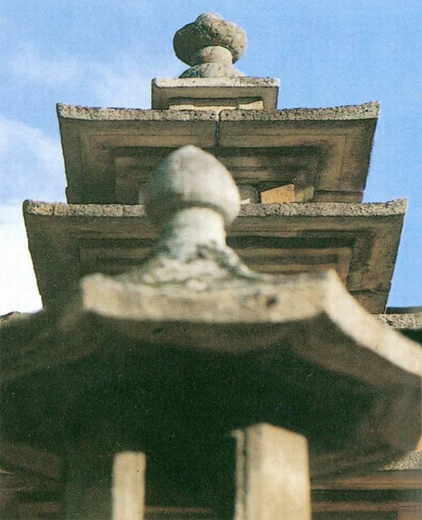 무량사오층석탑 상륜부. 문화재청 사진