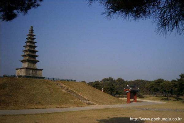 중원 탑평리 7층석탑 원경. GO 충주 사진