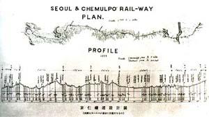 경인철도 설계도. 꾸러기세상 사진