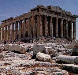 파르테논 신전 전면. 한메디지탈세계대백과 사진