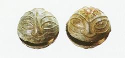 지산동 고분 출토 사람얼굴무늬 말방울